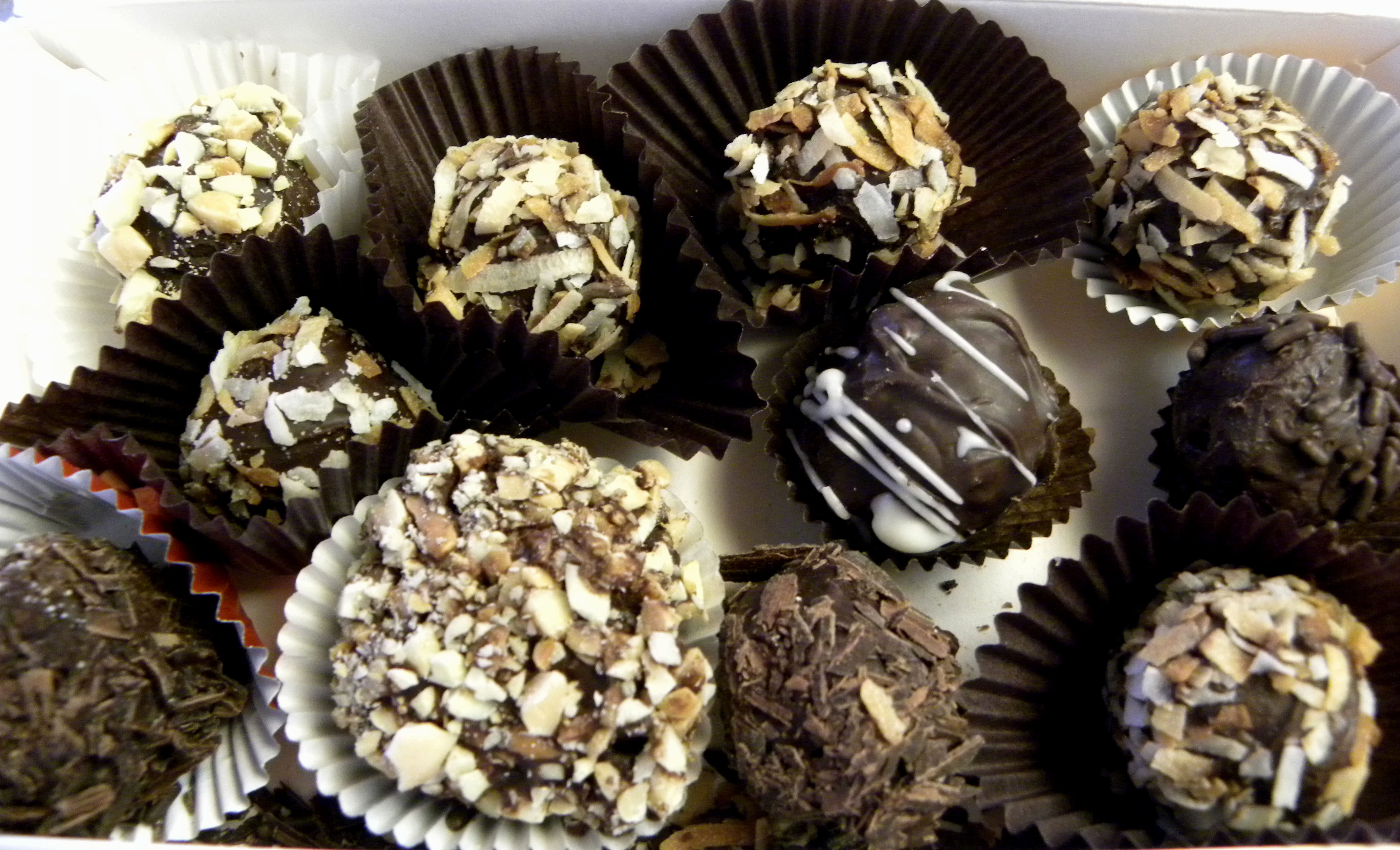 """We attended a """"learn to make chocolate truffles"""" party the night"""
