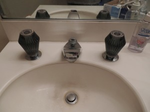 Old fixtures on the sink were 33 years old. They needed replacing.