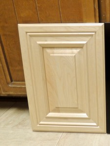 We chose natural maple for the cabinets and drawers. But this isn't the style. We went with double Shaker, which will go with the Craftsman theme of our family room.