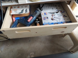Here is a drawer slid out to reveal the contents.