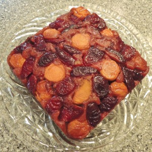 Apricot-Plum Upside-down Cake