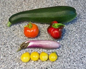 I FINALLY got a harvest of some summer vegetables. This was it.