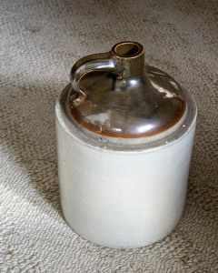 This old whiskey jug belonged to my great-grandmother Mary Ann (Toliver) Williams.